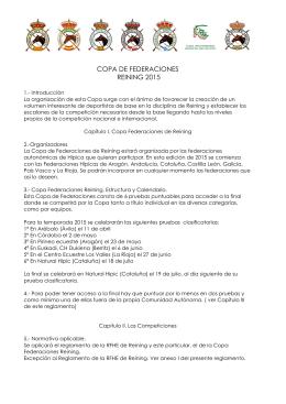 COPA DE FEDERACIONES - Federación vasca hípica