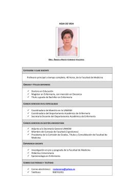 Dra. Ángela Cornejo Valdivia
