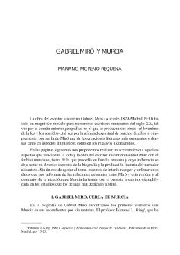 GABRIEL MIRÓ Y MURCIA - Región de Murcia Digital