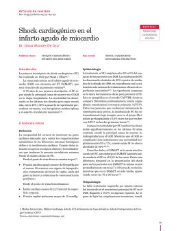 Shock cardiogénico en el infarto agudo de miocardio