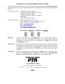 Ins Loss Prev - ENG 2013 - The California State PTA