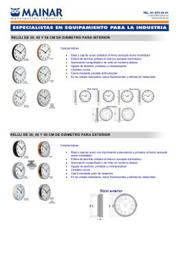 relojes analógicos