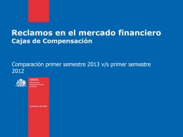 Ranking Cajas de Compensación - Primer semestre 2013