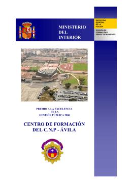 CENTRO DE FORMACIÓN DEL C.N.P - ÁVILA