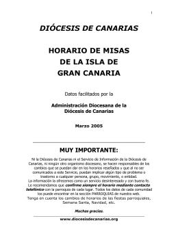 Misas en el arciprestazgo de Arucas