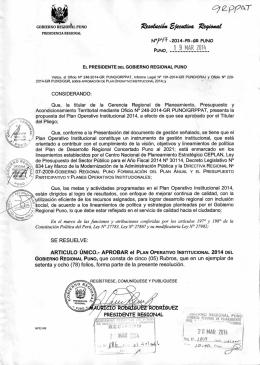 E - Gobierno Regional Puno