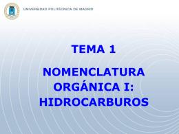 Nomenclatura Orgánica I: Hidrocarburos