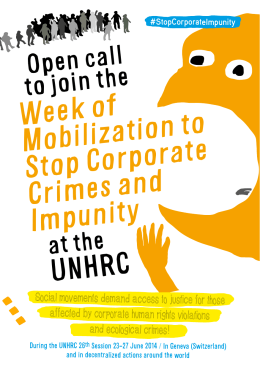 Flyer for the Week of mobilisation
