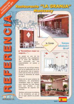 """Restaurante """"LA GRANJA"""" Montseny"""