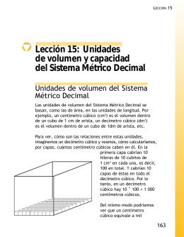 Lección 15: Unidades de volumen y capacidad del Sistema Métrico