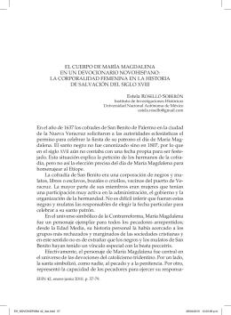EL CuErpo dE MarÍa MaGdaLEna En un - E-journal
