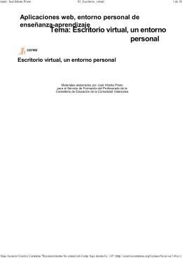 Tema: Escritorio virtual, un entorno personal