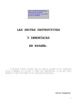 Las Sectas Destructivas y Demoníacas en España