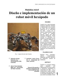 Diseño e implementación de un robot móvil hexápodo