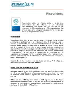 Risperidona - Pediamécum
