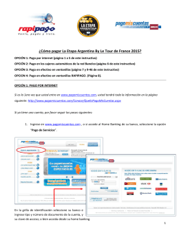 Instructivo de pago Web - La Etapa Argentina by Le Tour de
