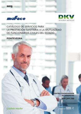 catálogo de servicios para la prestación sanitaria a la
