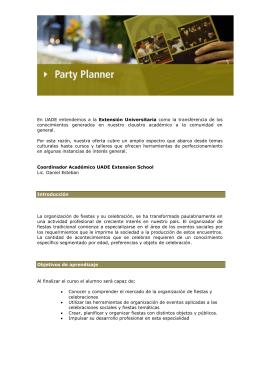 Party Planner - Universidad Argentina de la Empresa