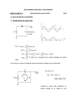 ELECTRONICA ANALOGA Y DE POTENCIA INICIO CLASE N° 3
