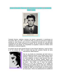 Jean-Claude Pascal, de modelo a actor y cantante 1927-1992