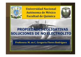 propiedades coligativas soluciones de no electrolito