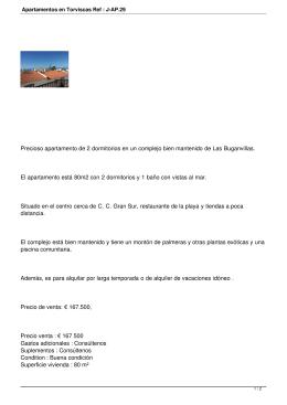 Apartamentos en Torviscas Ref : J