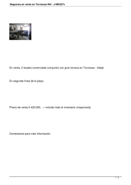 Negocios en venta en Torviscas Ref : J-NEG27v