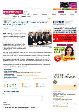 El Corte Inglés se une a los festejos con unas jornadas gastronómicas