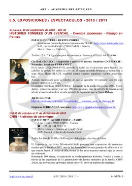 8.5. exposiciones / espectaculos - 2010 / 2011 - ARZ