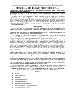 NOM-026-STPS-2008 - Secretaría del Trabajo y Previsión Social