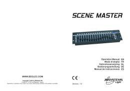 SCENEMASTER - user manual - V1.0