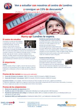 Ven a estudiar con nosotros al centro de Londres y