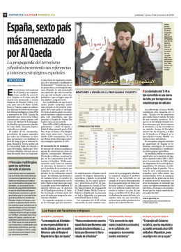 España, sexto país más amenazado por Al Qaeda
