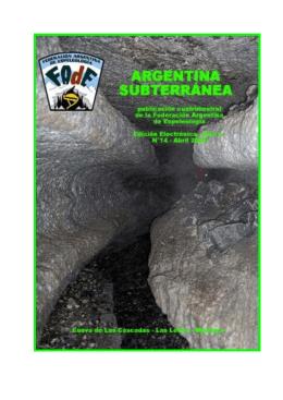 Boletín Argentina Subterránea