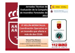 IF HELLÍN-MORATALLA: Coordinación Operativa en un incendio