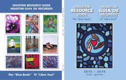 "HOUSTON GUIA DE RECURSOS The ""Blue Book"""