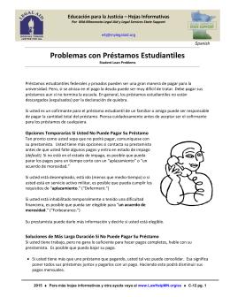 Problemas con Préstamos Estudiantiles