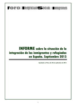 INFORME - Foro para la Integración Social de los Inmigrantes
