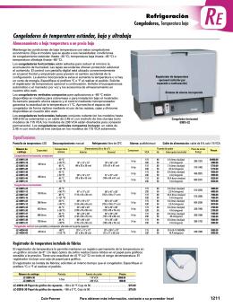 Congeladores de temperatura estándar, baja y - Cole