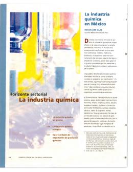 La industria química - revista de comercio exterior