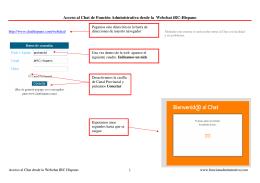 Acceso al Chat de Función Administrativa desde la Webchat iRC