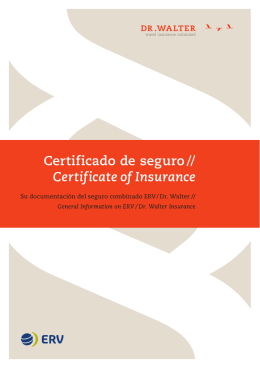 Certificado de seguro // Certificate of Insurance
