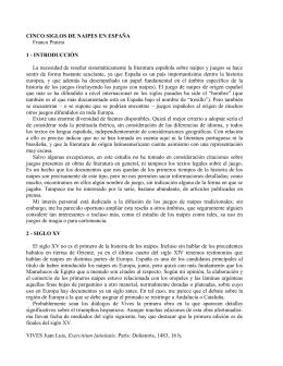 CINCO SIGLOS DE NAIPES EN ESPAÑA Franco Pratesi 1