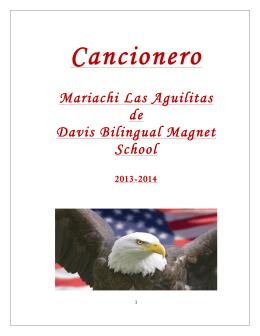 Cancionero - Davis Bilingual Magnet School Éxito en Dos Idiomas
