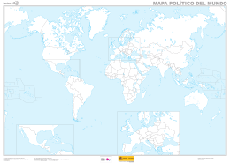 Mapa mudo del mundo (político) - Instituto Geográfico Nacional