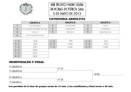 XXIII Trofeo Padre Usera - 2013