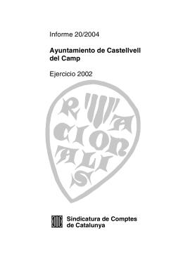 Informe 20/2004 - Sindicatura de Comptes