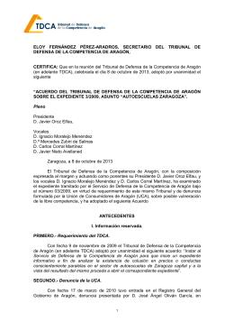Resolución 2013-9 Asunto Autoescuelas Zaragoza