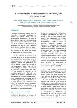 Bacterias lácticas - Revista Fuente