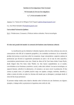TORTI FRUGONE, Yanina y SCHANDOR, Ana María